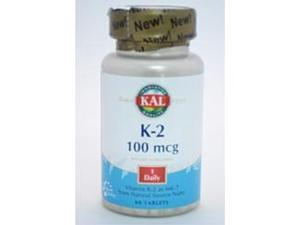 K-2 100 mcg - Kal - 60 - Tablet