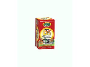 Source of Life Animal Parade Sugar-Free Vitamin D3 Black Cherry - Nature's Plus - 90 - Chewable