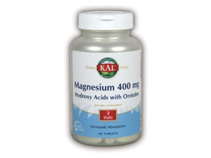 Magnesium 400mg, Hydroxy Acids With Orotate - Kal - 60 - Tablet