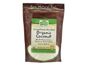 NOW? Real Food - Organic Coconut (Unsweetened, Shredded) - 10 oz (284 Grams) by