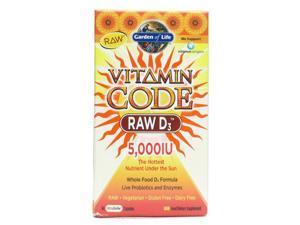 Vitamin Code Raw D3 5000 IU - Garden of Life - 60 - Capsule