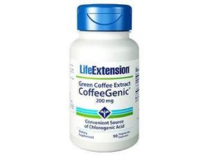 CoffeeGenic Green Coffee Extract 200 mg - Life Extension - 90 - VegCap