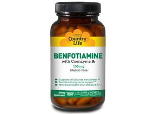 Benfotiame with Coenzyme B1 150 mg - Country Life - 60 - VegCap