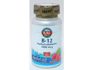 B-12 Methycobalamin 1000mcg-Red Raspberry - Kal - 90 - Tablet