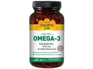 Omega-3 1000mg Fish Oil - Country Life - 50 - Softgel