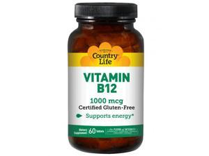 Vitamin B-12 1000 mcg - Country Life - 60 - Tablet