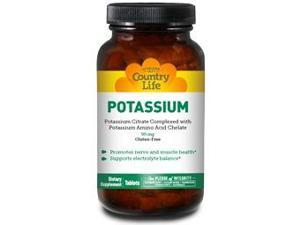 Potassium 99mg - Country Life - 250 - Tablet