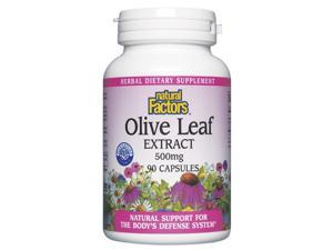 Olive Leaf Extract 500mg - Natural Factors - 90 - Capsule
