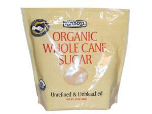 Organic Whole Cane Sugar - Rapunzel - 24 oz - Granule