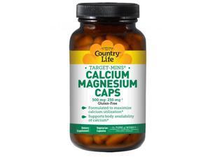 Calcium Magnesium Caps - Country Life - 180 - VegCap