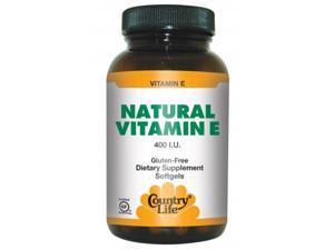 Vitamin E 400 IU - Country Life - 60 - Softgel