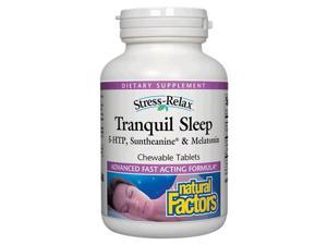 Stress-Relax Tranquil Sleep Chewables - Natural Factors - 120 - Tablet