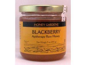Apitherapy Raw Honey Blackberry - Honey Gardens - 9 oz - Glass Jar