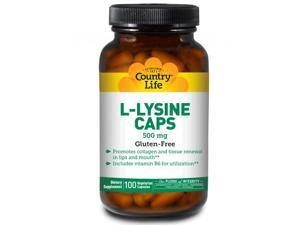 L-Lysine 500mg With B6 - Country Life - 100 - VegCap