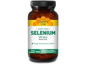 Selenium 100mcg Yeast Free - Country Life - 90 - Tablet