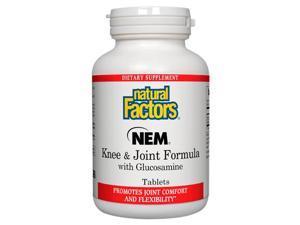 Nem Knee & Joint Formula with Glucosamine - Natural Factors - 120 - Tablet