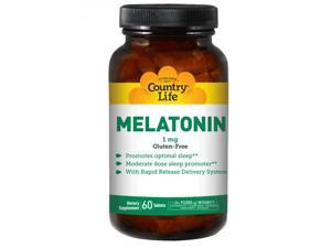 Melatonin 1mg Rapid Release - Country Life - 60 - Tablet