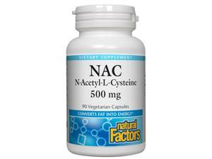 N-acetyl Cysteine (NAC) 500mg (Free Form) - Natural Factors - 90 - Capsule