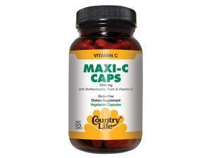 Maxi C Caps 1000mg With Rutin and Bioflavonoids - Country Life - 180 - Capsule
