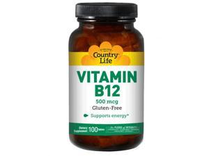 Vitamin B-12 500mcg - Country Life - 100 - Tablet