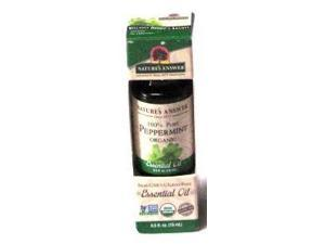 Essential OIl Organic Peppermint - Nature's Answer - 0.5 oz - Liquid