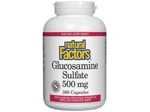 Glucosamine Sulfate 500mg - Natural Factors - 360 - Capsule