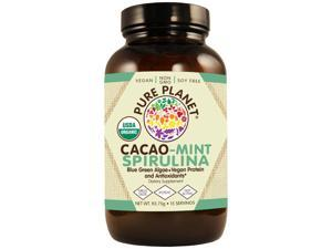 Organic Cacao Mint Spirulina 15 Servings - Pure Planet Products - 93.75g - Powder