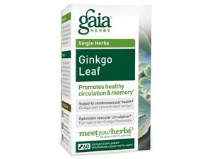 Ginkgo Leaf - Gaia Herbs - 60 - VegCap