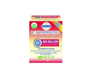 Raw Probiotics 5-Day Max Care-400 Billion - Garden of Life - 2.4 oz - Powder