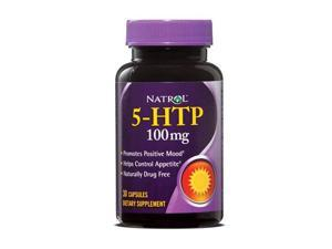 Natrol 5-HTP 100mg, 30 Capsules (Pack of 2)