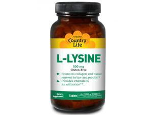 L-Lysine 500mg With B6 - Country Life - 100 - Tablet