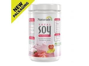 Total Soy Meal Replacement - Strawberry Creme - Naturade Products - 1.1 lbs - Powder