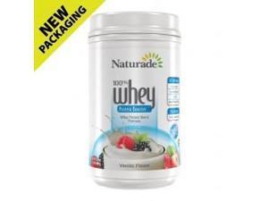 Whey Protein (100%)-Vanilla - Naturade Products - 24 oz - Powder