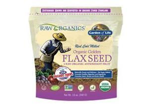 Raw Organics Organic  Ground Golden Flax Seed + Raw Organic Antioxidant Fruit - Garden of Life - 12 oz - Pouch