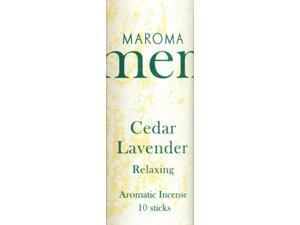 Men Cedar Lavender Incense - Maroma - 10 - Stick