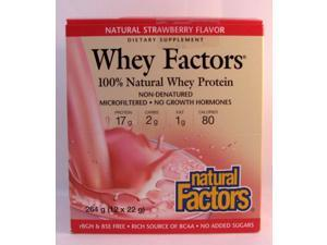 Whey Factors Strawberry - Natural Factors - 12 packets x22g (264 - Box