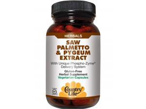 Saw Palmetto & Pygeum Extract - Country Life - 60 - VegCap