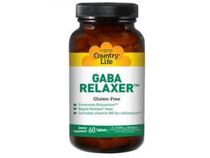 GABA Relaxer With B6 - Country Life - 60 - Tablet