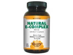 Vitamin E Complex 400 IU With Mixed Tocopherols - Country Life - 60 - Softgel