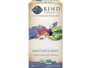 Kind Organics Men One-A-Day - Garden of Life - 60 - Tablet