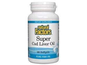 Super Cod Liver Oil - Natural Factors - 90 - Softgel