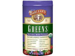 Natural Berry Flavor Barlean's Greens - Barlean's - 9.4 oz - Powder
