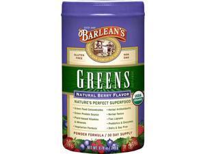 Natural Berry Flavor Barlean's Greens - Barlean's - 9.4 oz - Powder
