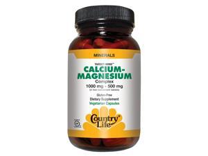 Calcium Magnesium Complex 1000mg and 500mg - Country Life - 90 - Tablet