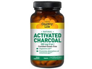 Charcoal 260mg - Country Life - 100 - VegCap