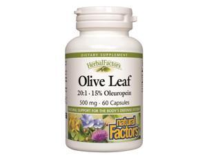 Olive Leaf Extract 500mg - Natural Factors - 60 - Capsule