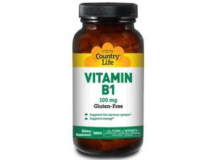 Vitamin B-1 100mg - Country Life - 100 - Tablet