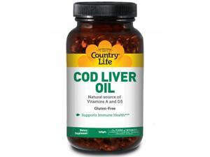 Cod Liver Oil 10 Minims - Country Life - 250 - Softgel
