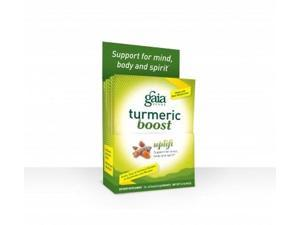 Turmeric Boost Uplift - Gaia Herbs - 14 Packets - Box