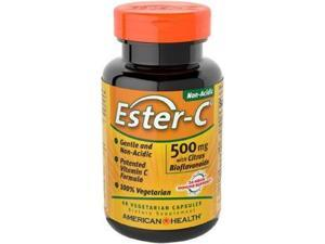 Ester-C 500 mg with Citrus Bioflavonoids - American Health Products - 60 - VegCap